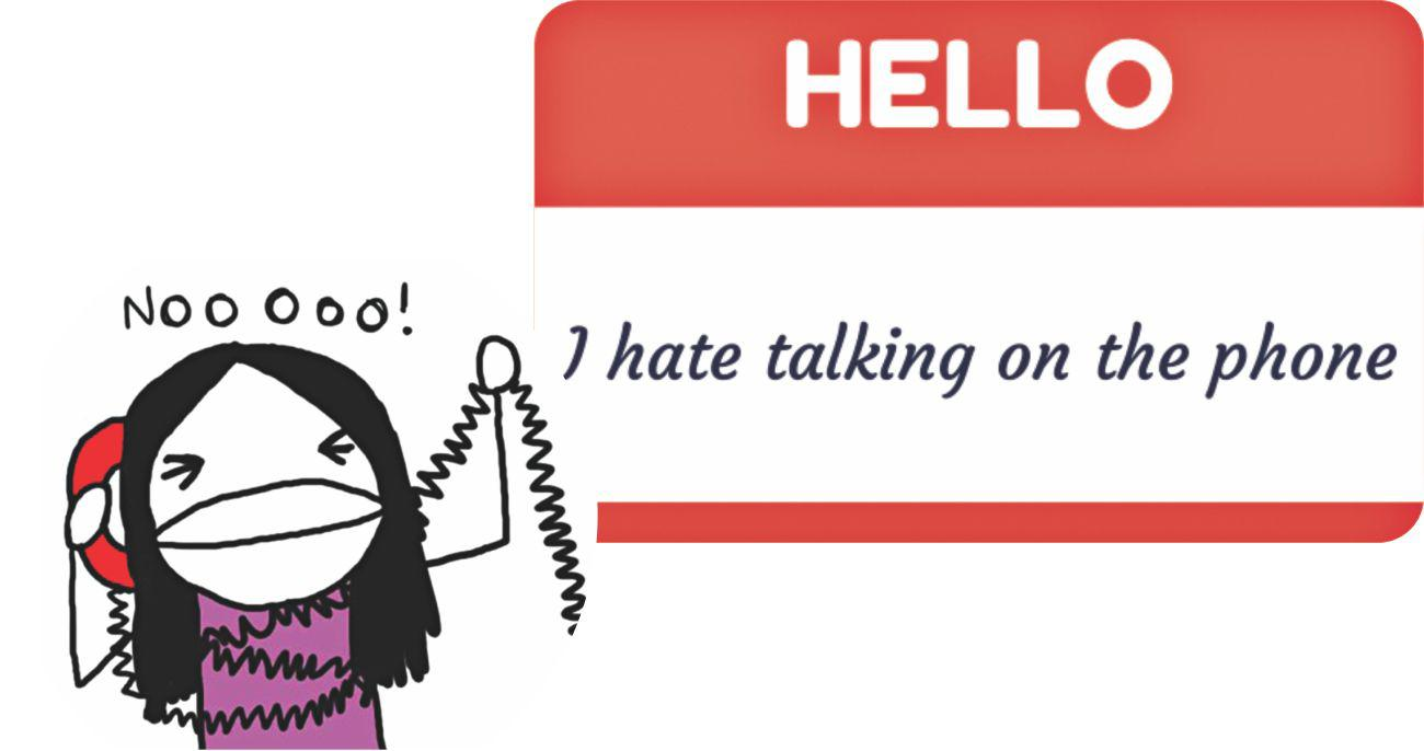 Image result for hating phone calls