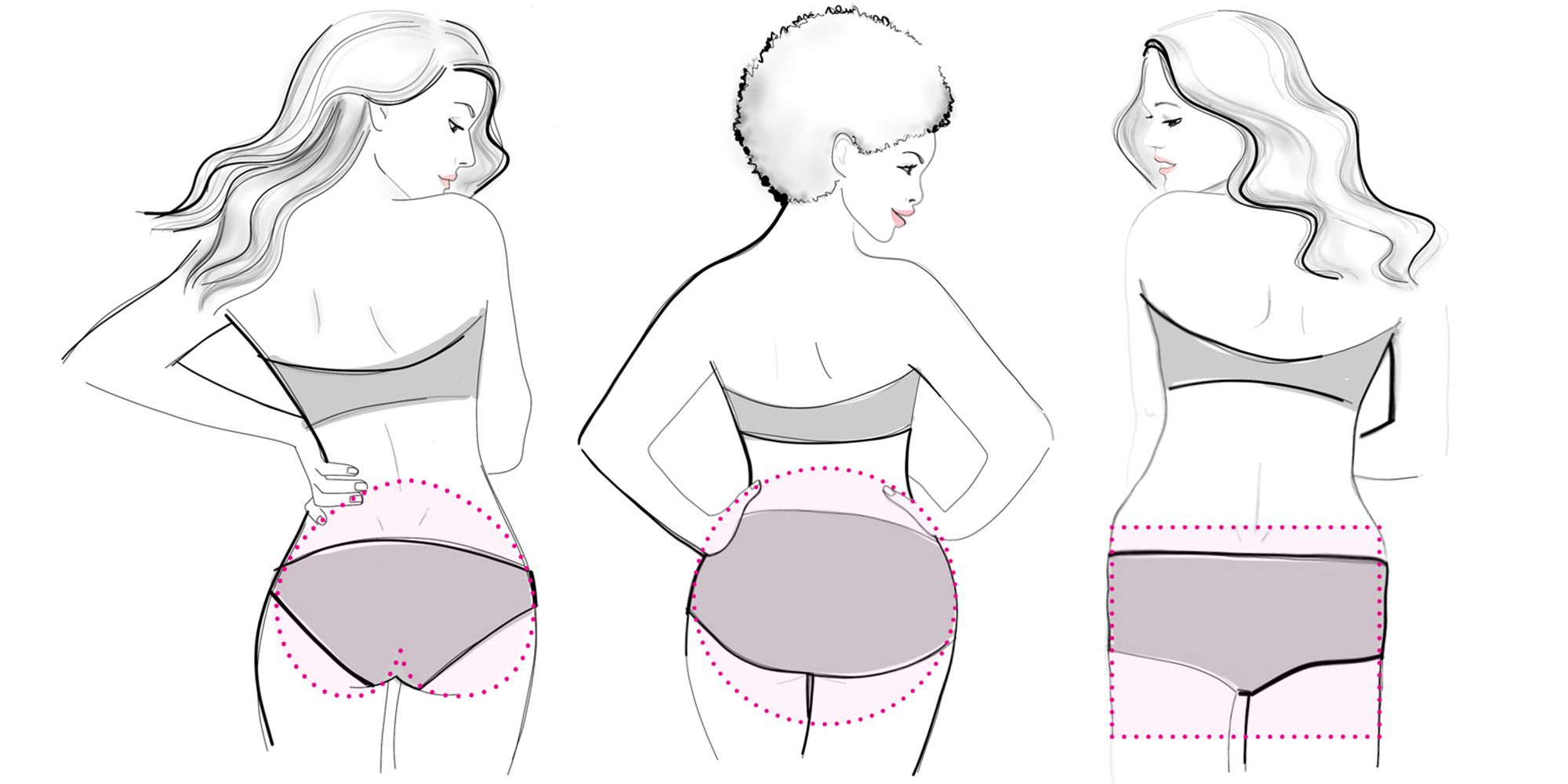 types of butt shapes her man